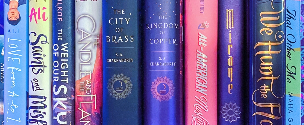 The colourful spines of
